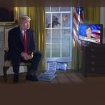 President Trump watching Tucker Carlson