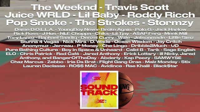 NBA 2K21 Soundtrack Artists