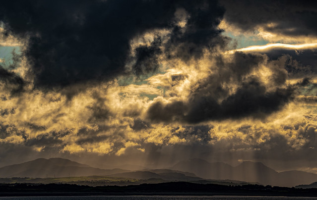 Stormy sunrise over Snowdonia
