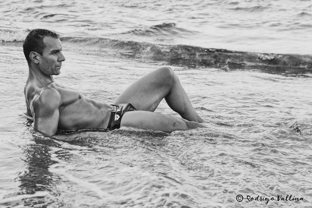 Hombre en el agua