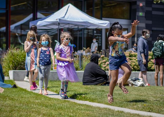Tukwila #BLM 6-25-20 Rally Kids Playing