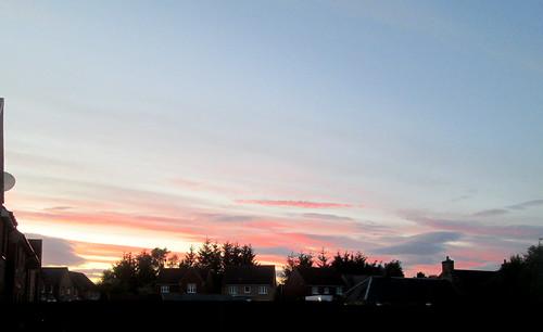 Fife sky, evening sky, Scotland