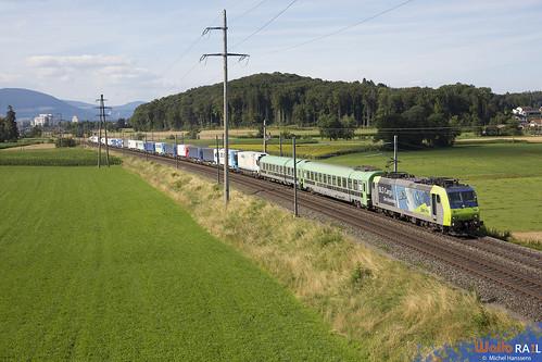 Re 485 009 . BLS Cargo . 43627 . Herzogenbuchsee . 18.07.20.