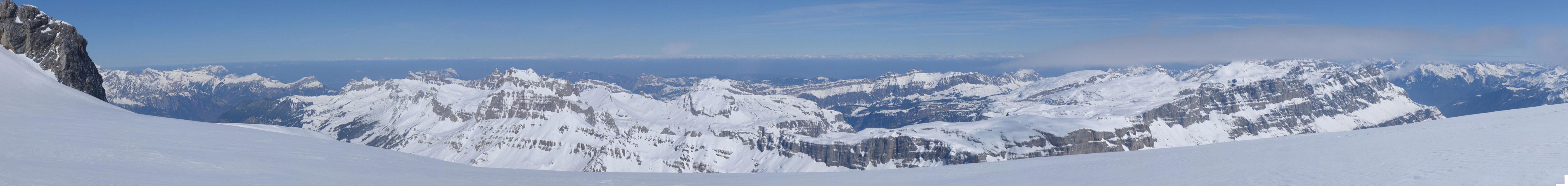Gross Schärhorn Glarner Alpen Švýcarsko panorama 22