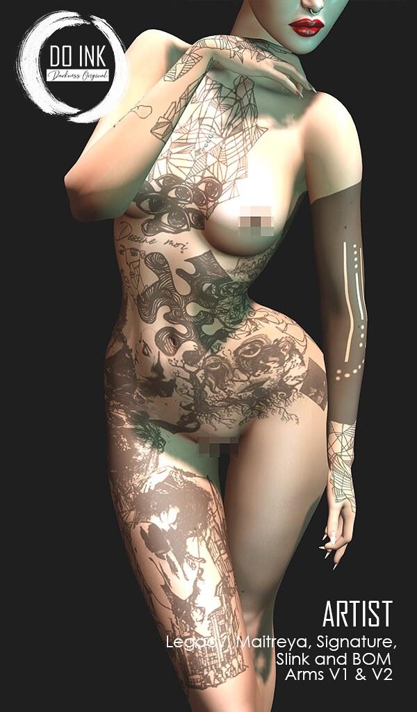 DO INK Tattoo ARTIST Detail Face for Event UNIK