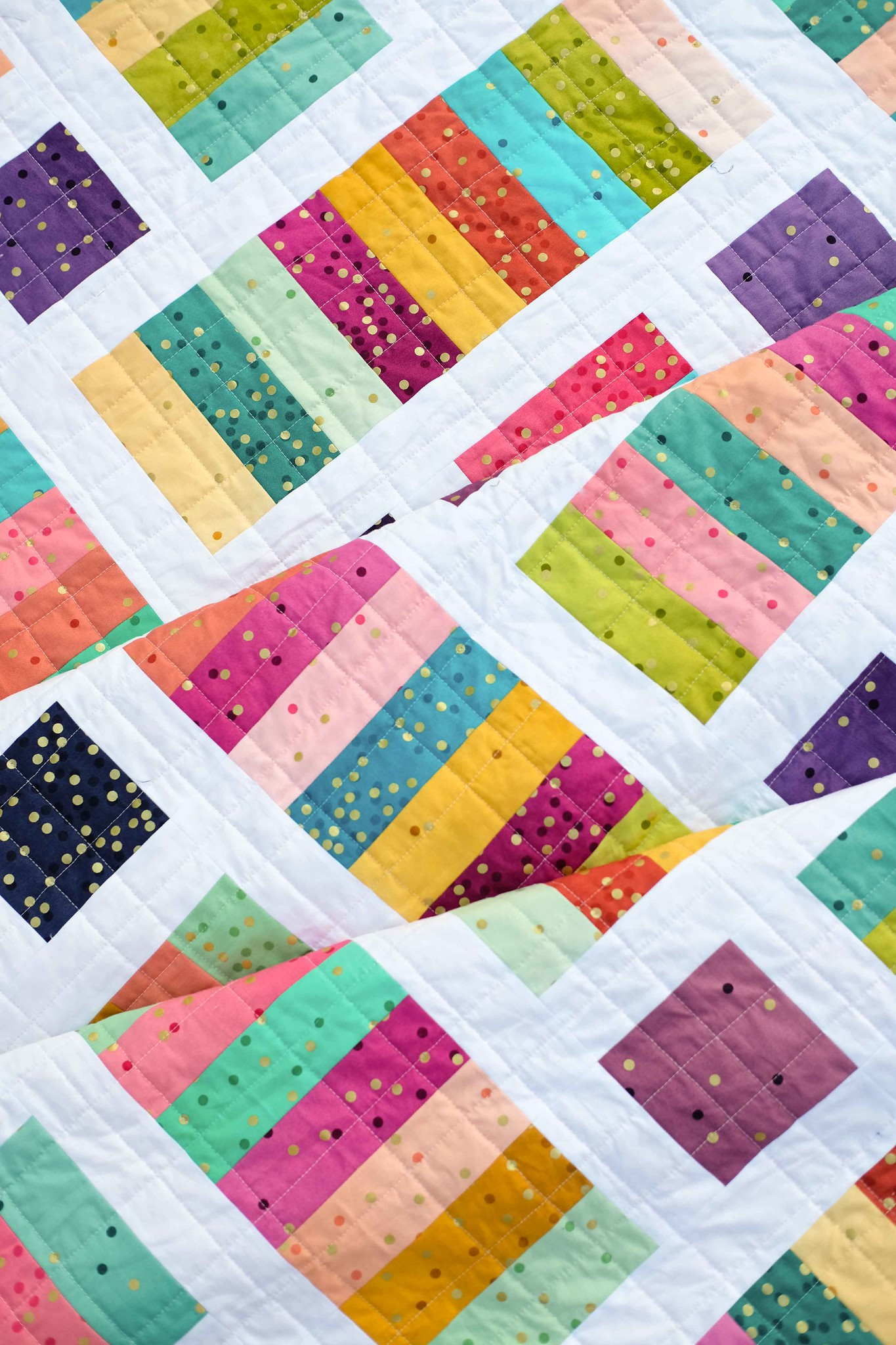 The Iris Quilt in Ombre - Kitchen Table Quilting