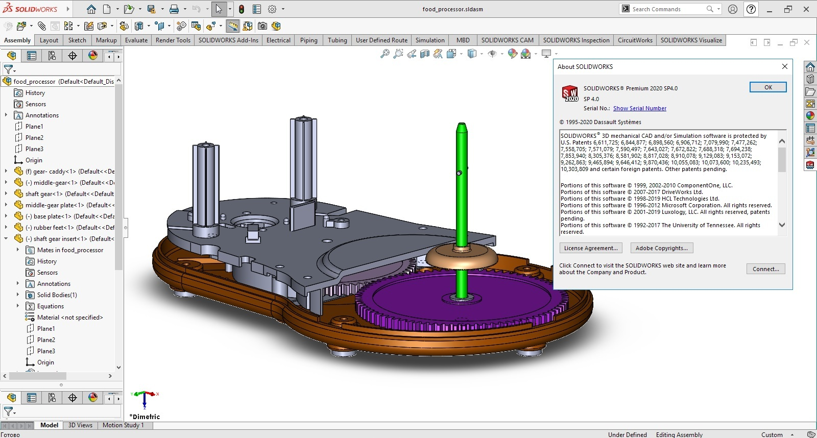 Working with SolidWorks 2020 SP4.0 Premium full license