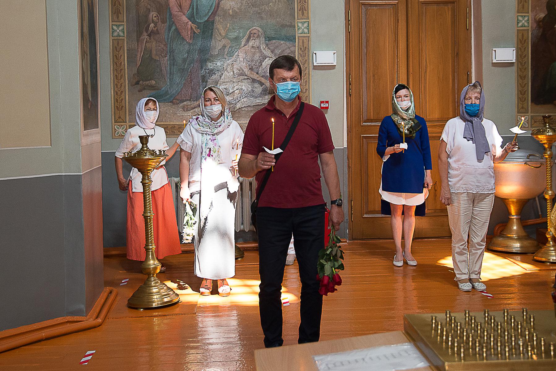 Панихида в церкви Михаила Архистратига. Фотографии А. Семенова