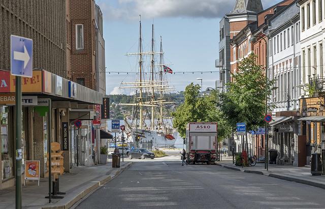 View of the school ship Sørlandet
