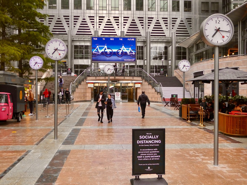 So Public Clocks, Reuters Plaza, Canary Wharf