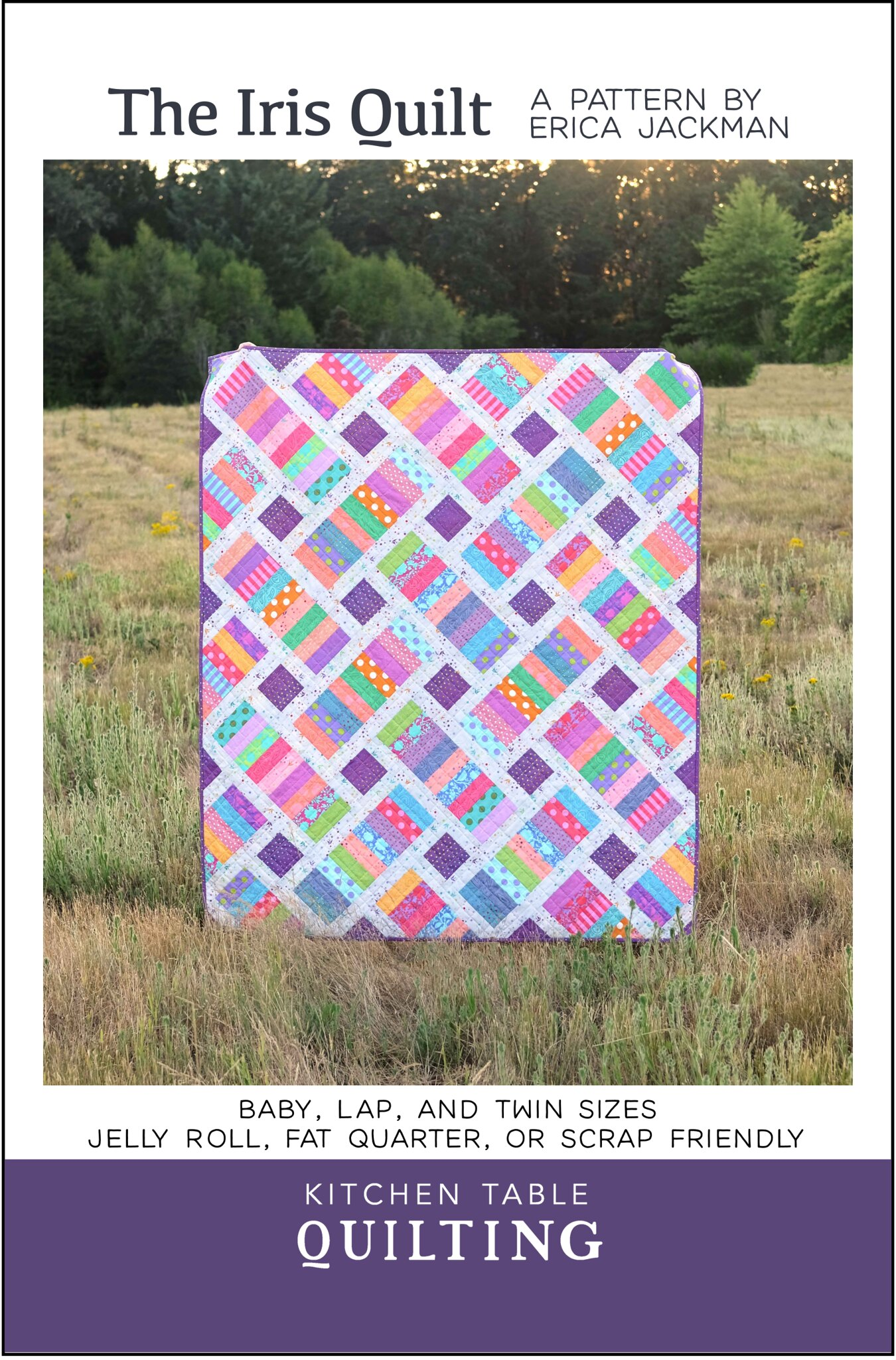 The Iris Quilt Pattern - Kitchen Table Quilting
