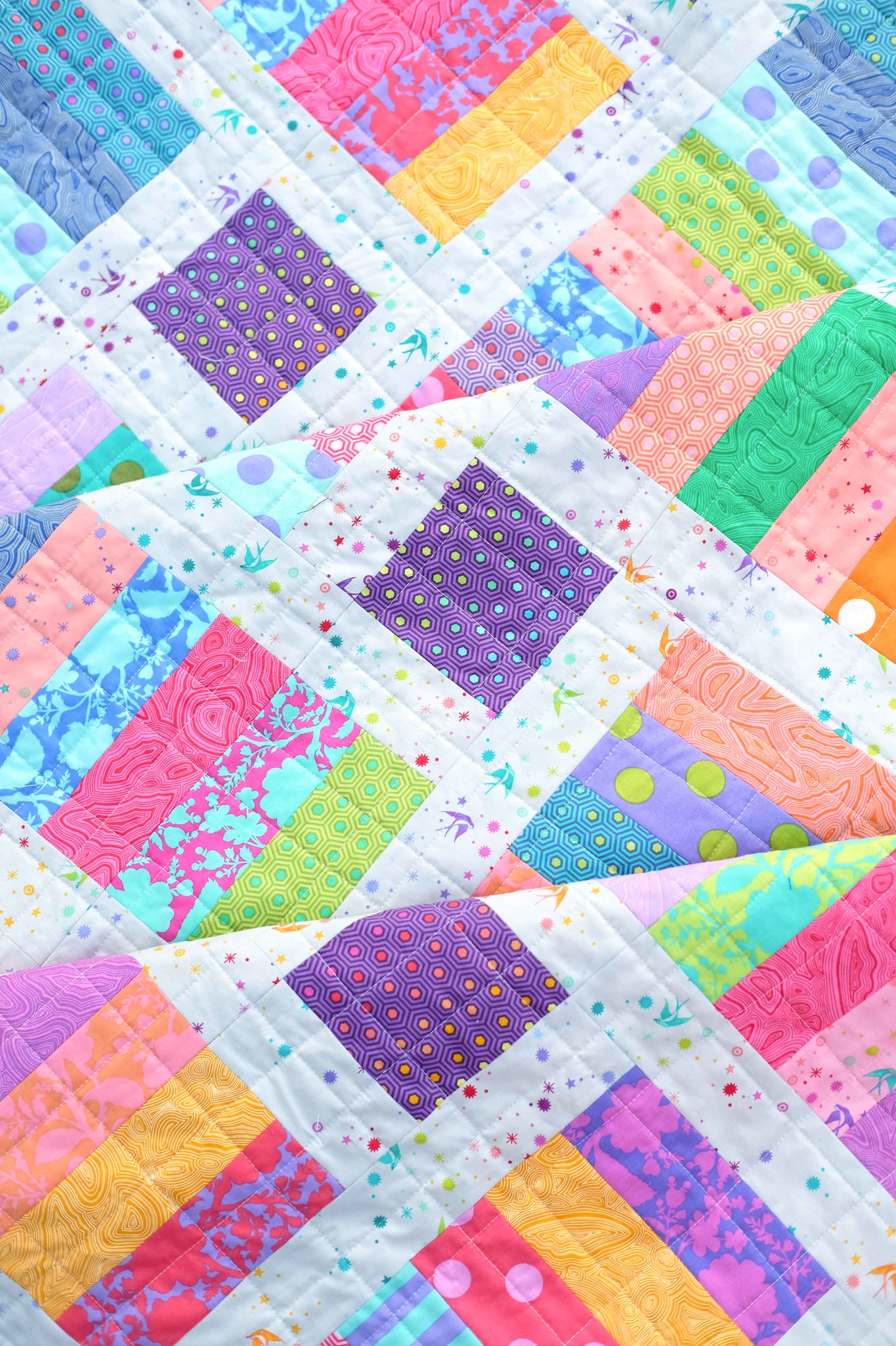 The Iris Quilt in Tula Pink - Kitchen Table Quilting