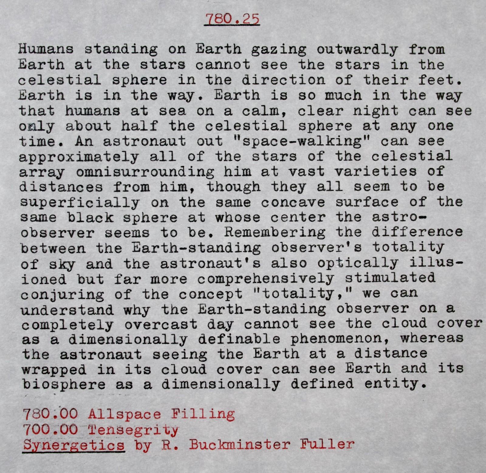 Copy-Typing Bucky Fuller