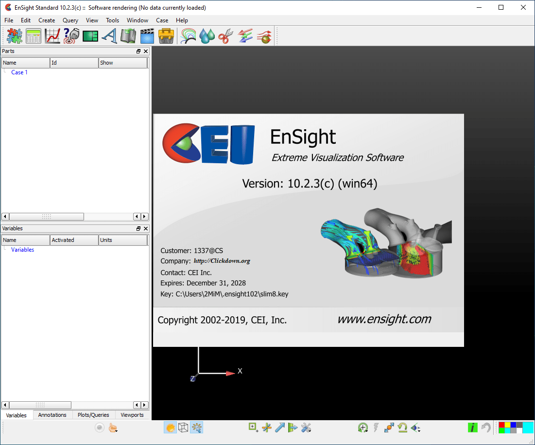 Working with CEI EnSight Gold 10.2.3c full