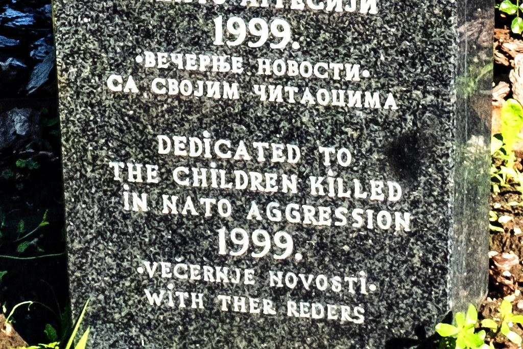 DEDICATED TO THE CHILDREN KILLED IN NATO AGGRESSION 1999--Belgrade (detail)