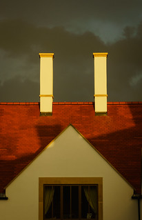 Two chimneys before the storm