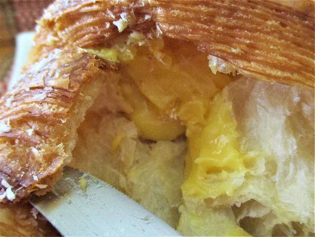 Louis Bakery croissant, mango cream filling