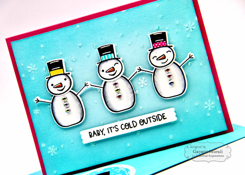 Baby It's Cold OUtside kit card #2 closeup | by Gayatri Murali