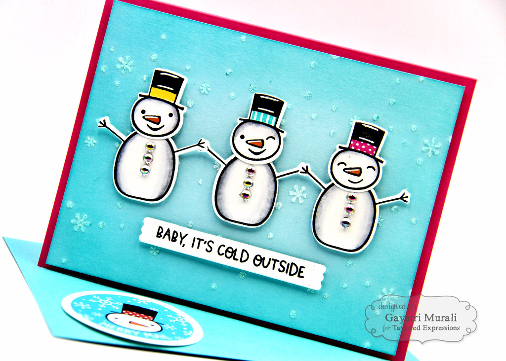 Baby It's Cold OUtside kit card #2 closeup1