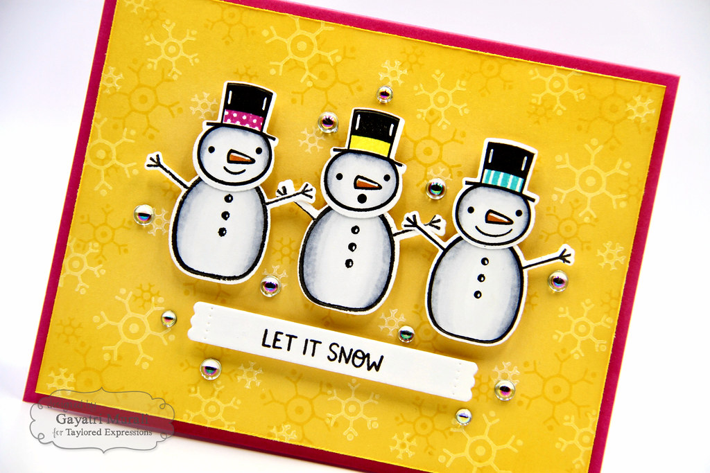 Baby It's Cold OUtside kit card #3 closeup