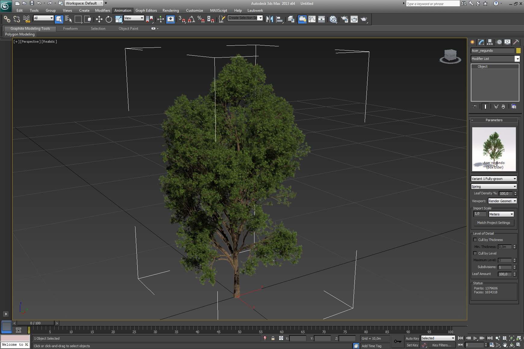 Working with Laubwerk Plants Kit 4 v1.0.25 for 3ds max 2013