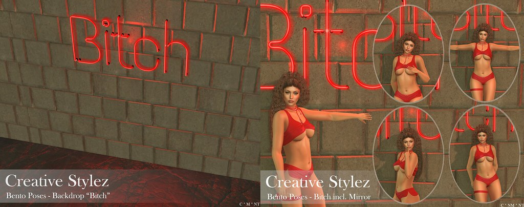 Creative Stylez - Bento Poses & Backdrop - Bitch -