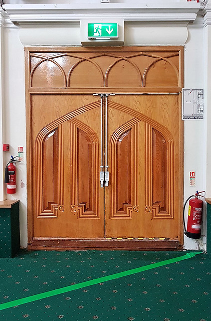 Decorative Mahogany Door