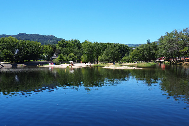 River beach, Arcos de Valdevez