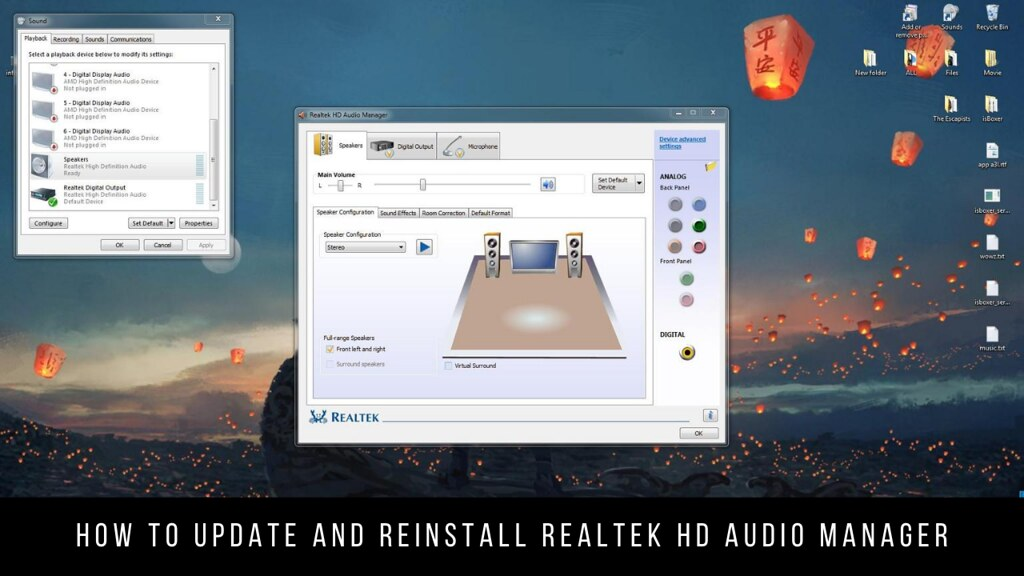 How to update and reinstall Realtek HD Audio Manager