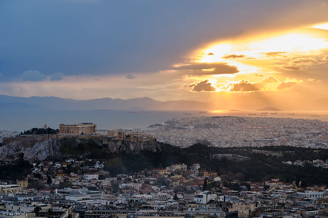 Acropolis of Athens during Sunset