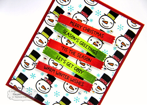 Baby It's Cold OUtside kit card #1  closeup2 | by Gayatri Murali