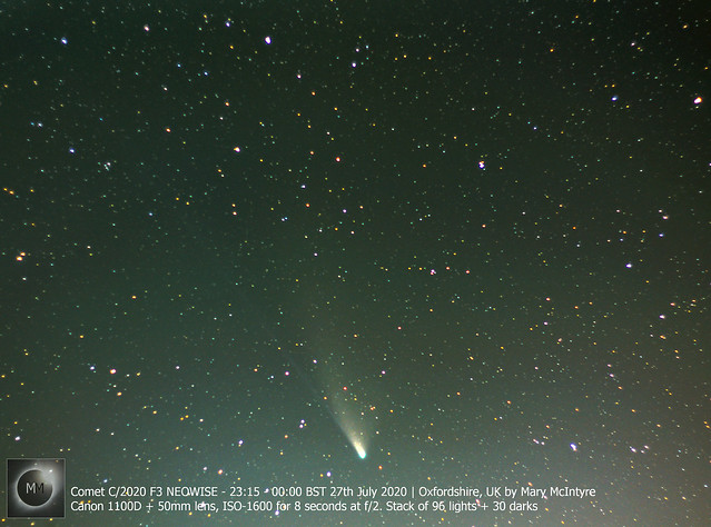 Comet C/2020 F3 NEOWISE (96 Image Stack) - 27/07/20