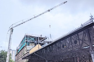 Big crane back at the new Shankly Hotel in Preston | by Tony Worrall