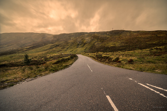 Foggy Road.