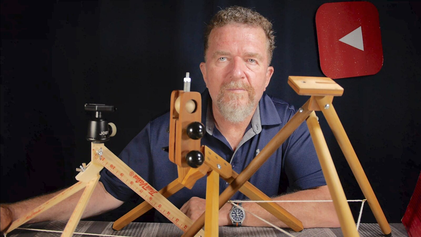 Joe and his tabletop tripods