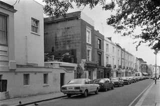 A Davey, Builder, ghost sign, Portobello Rd, Notting Hill, Kensington & Chelsea, 1987 87-7f-52-positive_2400
