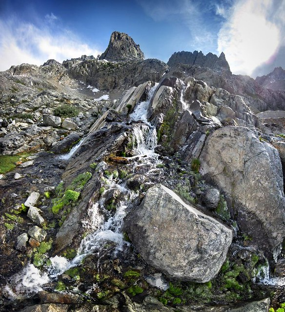 Waterfall in Ritter Pass Basin - Sierra