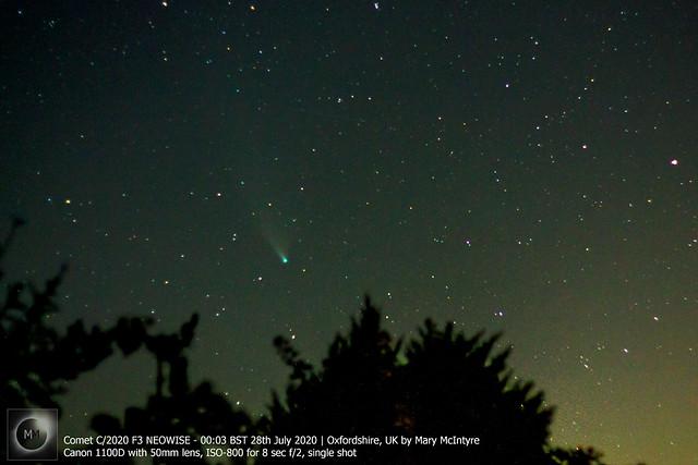 Comet C/2020 F3 NEOWISE 00:03 BST 28/07/20