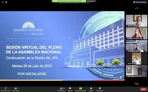 CONTINUACIÓN DE LA SESIÓN NO. 674 DEL PLENO DE LA ASAMBLEA NACIONAL (VIRTUAL). ECUADOR, 28 DE JULIO DEL 2020