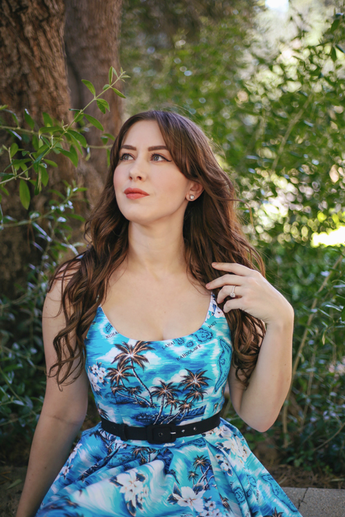 The Pretty Dress Company Priscilla Dress in Blue Hawaii