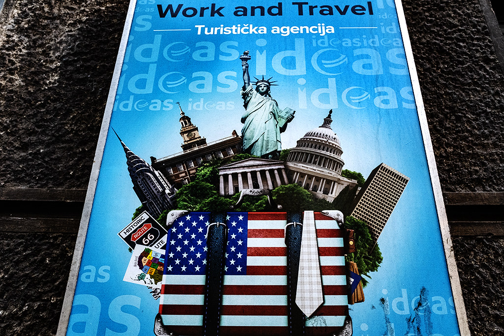Ad for Work and Travel to the US--Belgrade
