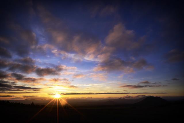 Sunset behind Crater Lake