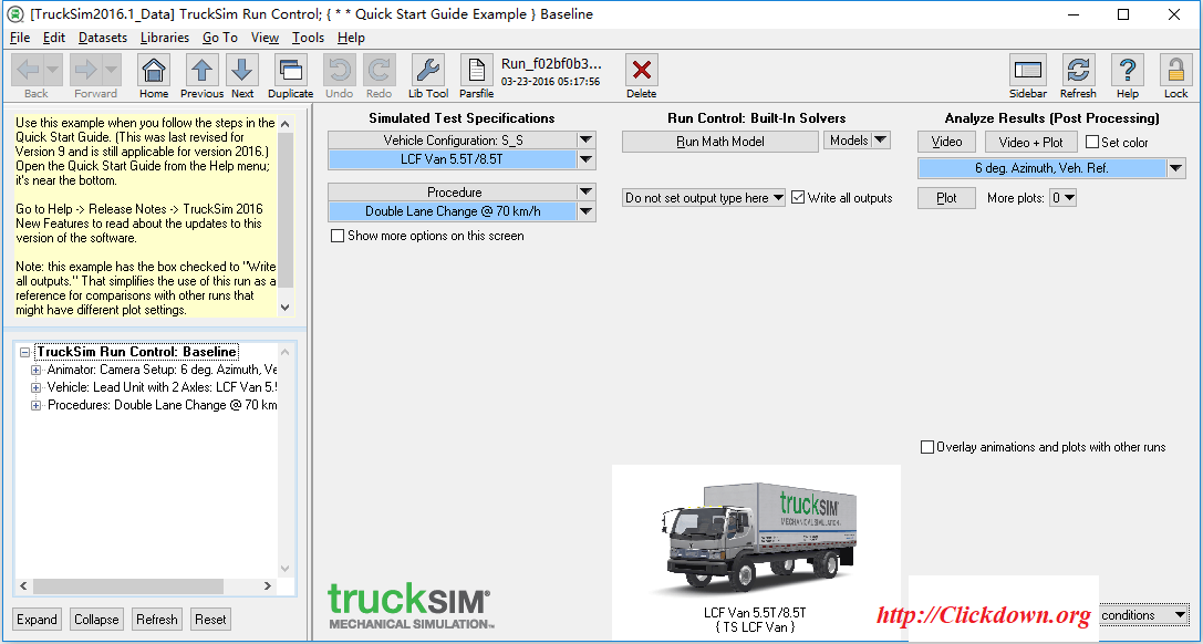 Working with TruckSim 2016.1 full license