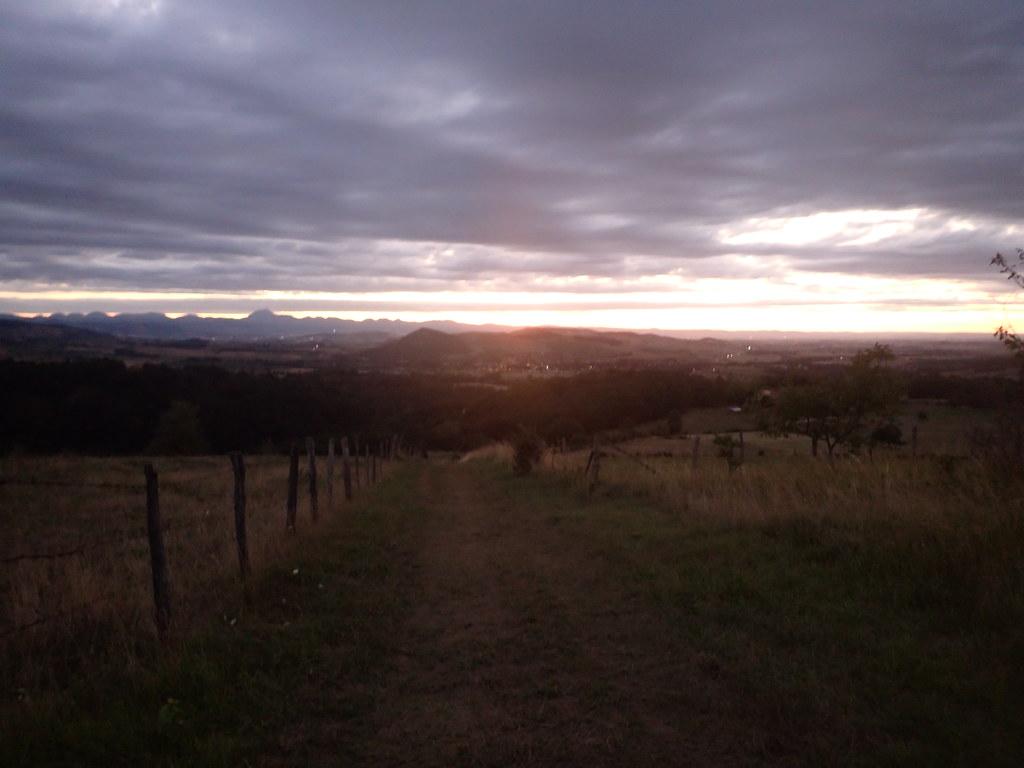 Vallée du Madet, le soir