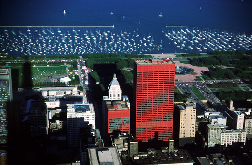 Lakeshore view from what was the Sears Tower in 1987