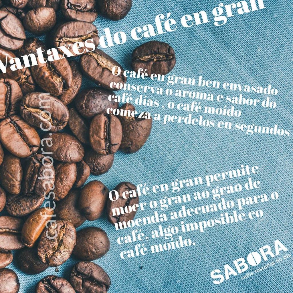 Vantaxes do café  en gran para o teu café
