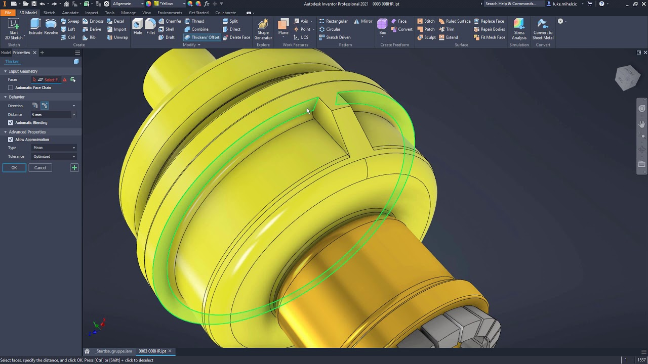 Working with Autodesk Inventor Professional 2021.1 full