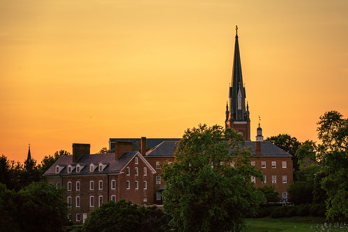 annapolis sunset summer sky water evening sonyimages sonyalpha stmaryschurch spacreek downtownannapolis eastportbridge maryland annearundelcounty church steeple orange sigma100400mm sigmalens sigma