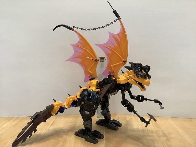 Snazzy Cyborg Sea Dragon Archeologist