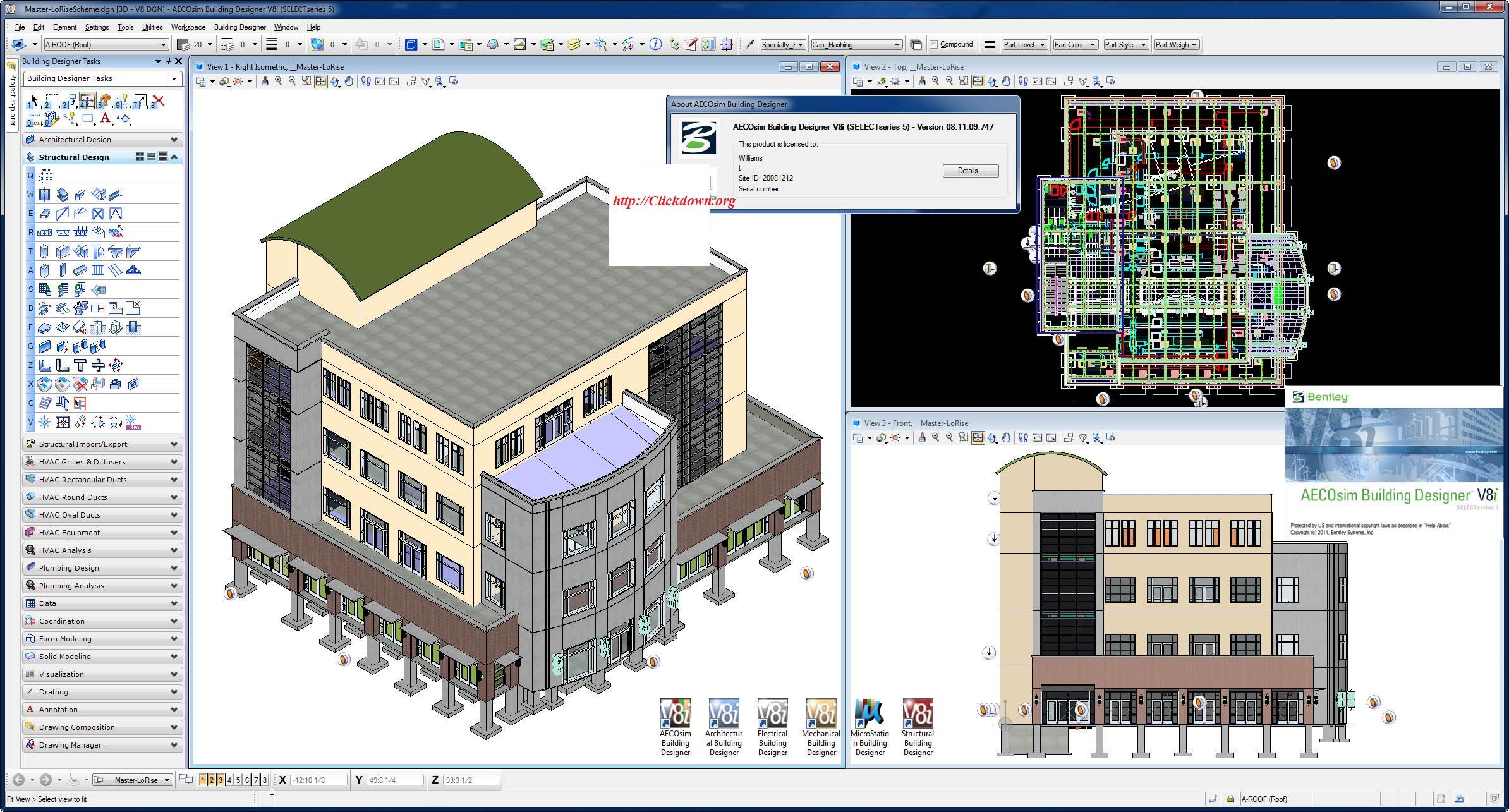 Working with Bentley AECOsim Building Designer V8i.SS5 08.11.09.747 full